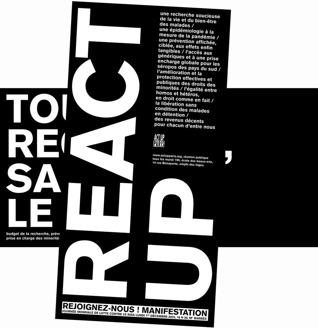 « Tout régresse, sauf le sida »<br />campagne d'affichage Act Up, 2003
