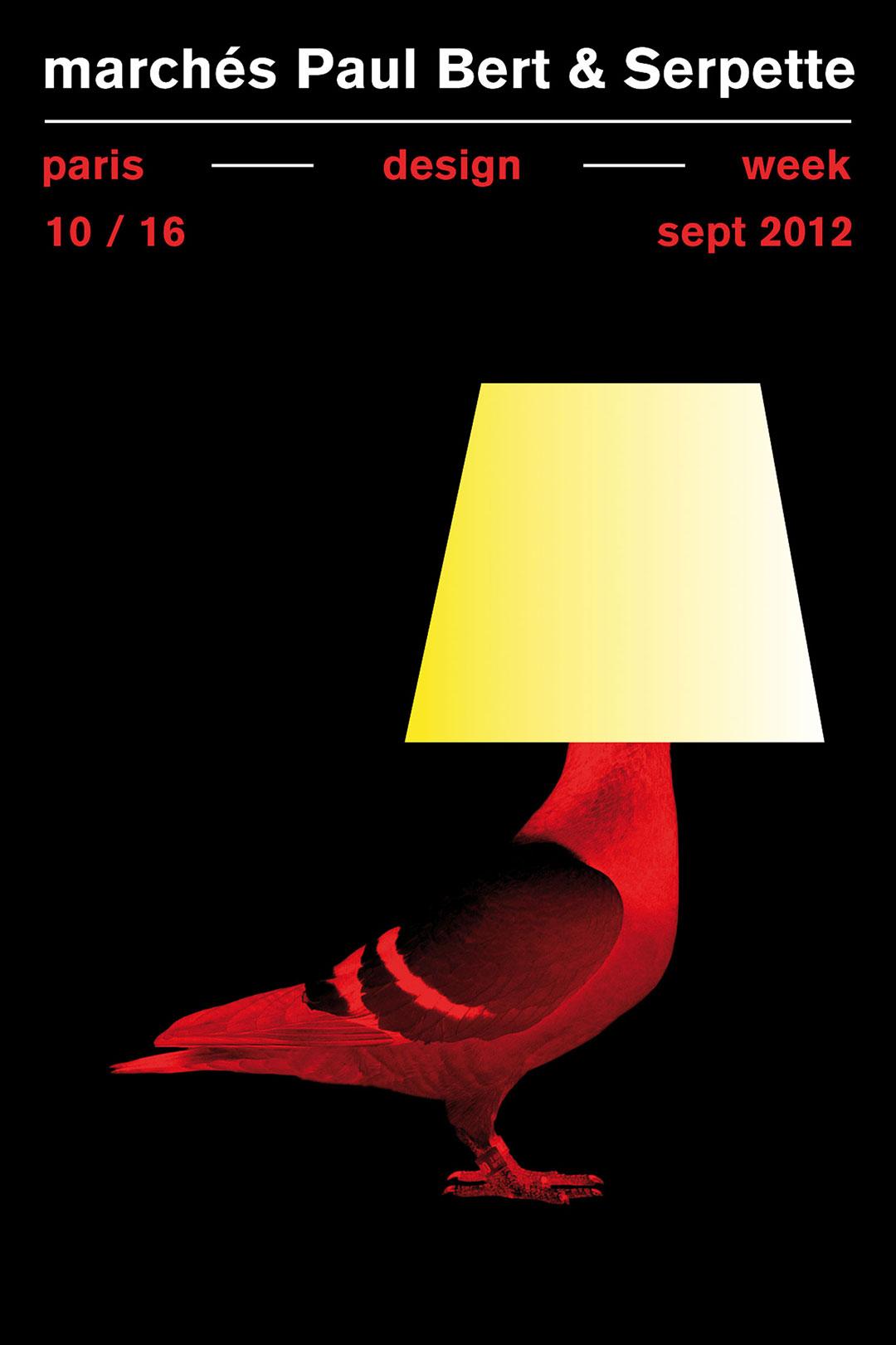 « Paris design week »<br />affiche (80 x 120 cm), 2012